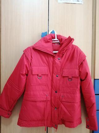 chaqueta anorak rojo