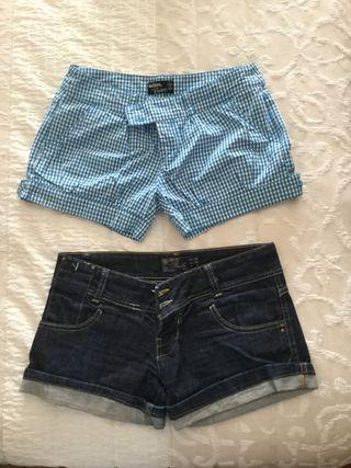 Pack de 2 shorts talla 34