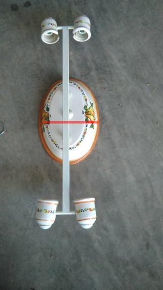 Lámpara techo cerámica 72 x 22cm