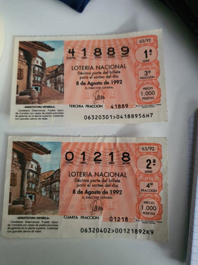Decimo Loteria antiguo