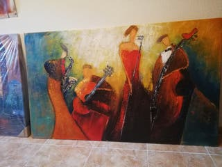 Cuadro moderno, pintura decorativa contemporánea