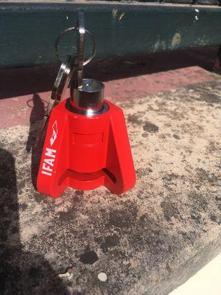Candados seguridad para disco de freno de moto