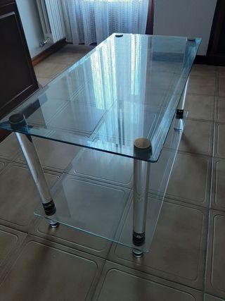 Mesa de centro en cristal y metacrilato