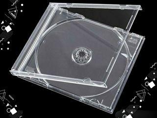 PACK DE 10 CAJAS DE CD'S TRANSPARENTES