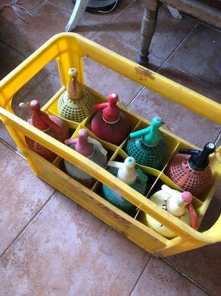 Caja + 8 sifones de colores