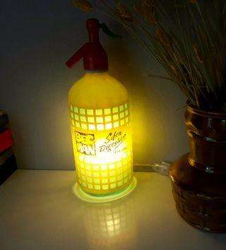 lámpara sifón vintage Bec Man luz ambiente calida