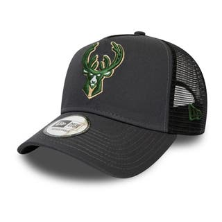 NEW ERA DARK BASE TEAM TRUCKER MILWAUKEE BUCKS
