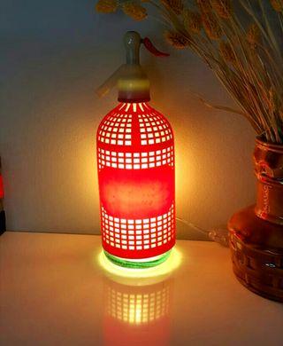 lámpara sifón vintage luz calida ambiente