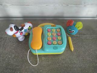 Telefono y perro juguete