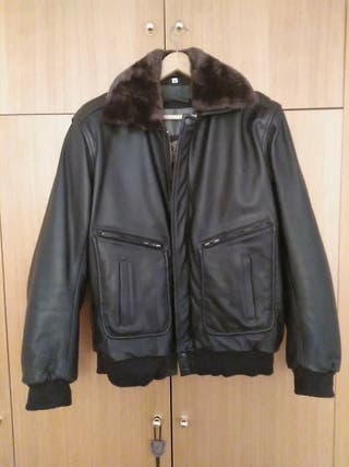 chaqueta de cuero moto xl