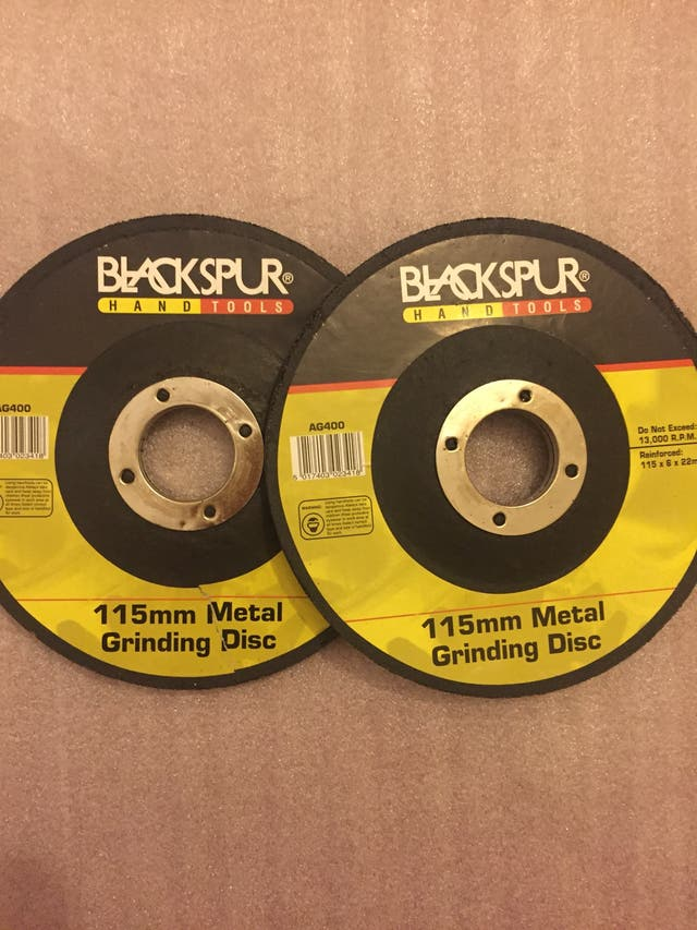 Metal grinding disc set 2 pc
