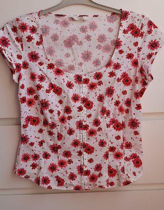 Camiseta-corsé floral Marks-Spencer