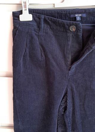 Pantalón de pinzas velvet