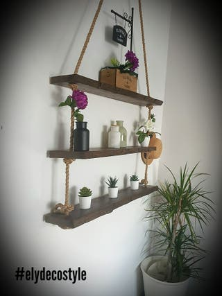 estanteria colgante artesana