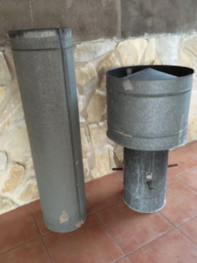 Caperuza sombrerete chimenea y tubo