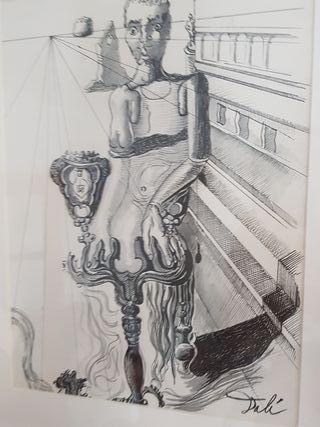 Tinta firmada Salvador Dalí