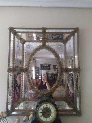 Auténtico Espejo Veneciano de cristal de murano