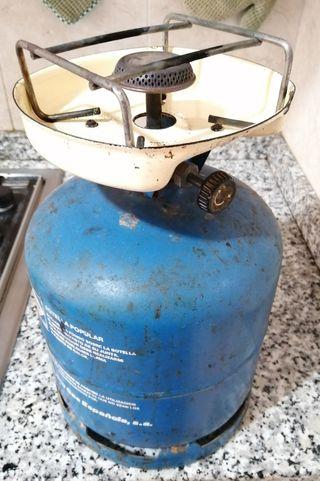 hornillo camping con bombona gas