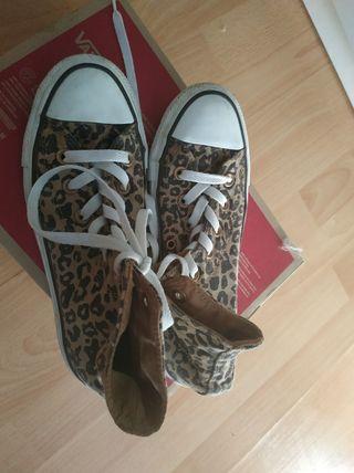 Zapatillas Converse MujerT37 - Estampado Leopardo