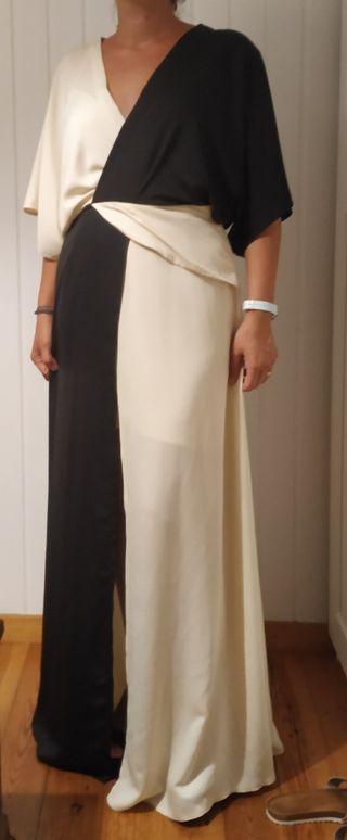 vestido fiesta bicolor 40-42