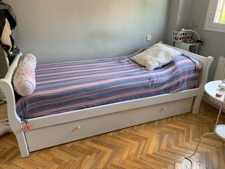Conjunto dormitorio Cama nido-escritorio y silla