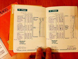 4 librillos antiguos vuelta ciclista españa