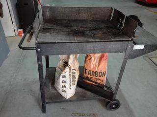 barbacoa a carbón