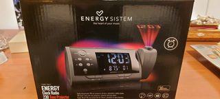 Reloj, radio, con 2 alarmas despertador