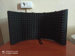 Pantalla absorbente para micrófono a estrenar