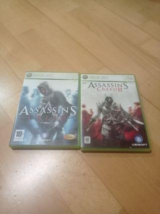 Assassins Creed 1 y 2 Xbox 360