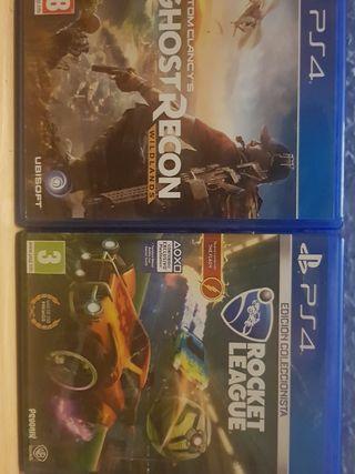 """Videojuegos """"Rocket League/Wildlands"""" PS4"""
