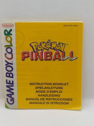 Manual Pokemon Pinball Game boy Color