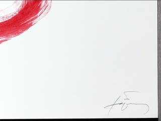 Antoni Tàpies- Llibertat, 1988- lithografía Color.