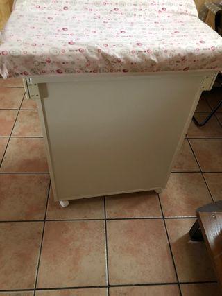 Mueble bañera cambiador