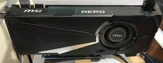 Tarjeta Grafica Msi Geforce Gtx 1080 Aero Oc 8gb D