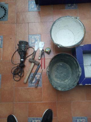 lote de herramientas - construcción y escayola