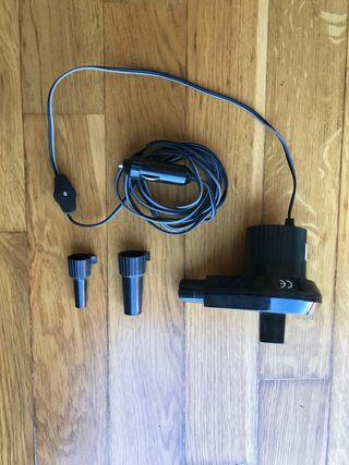 Hinchador eléctrico para el mechero del coche