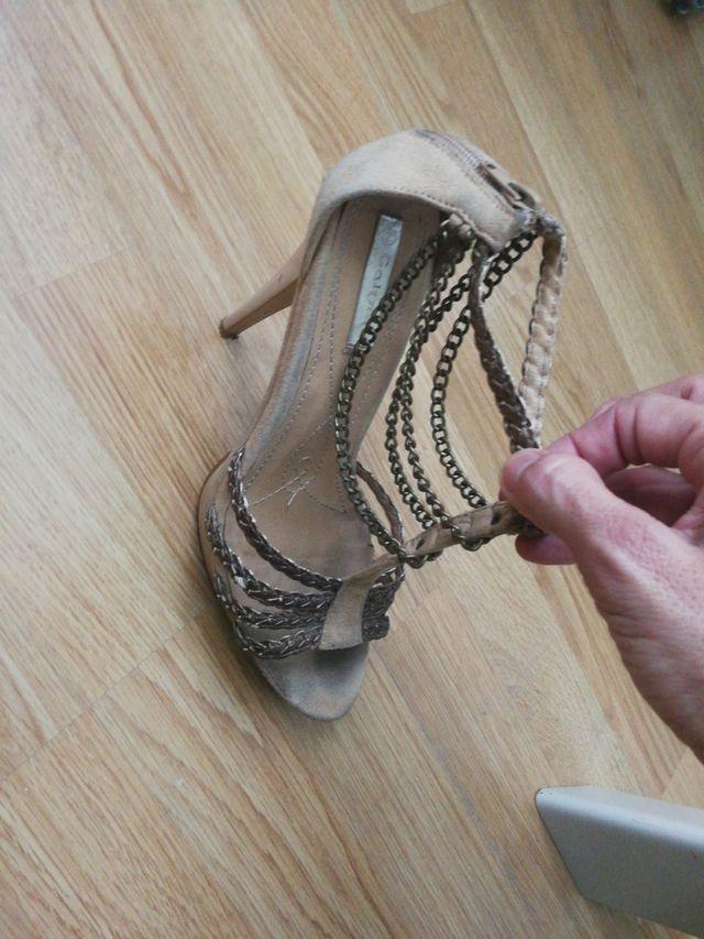 sandalia dorada n39