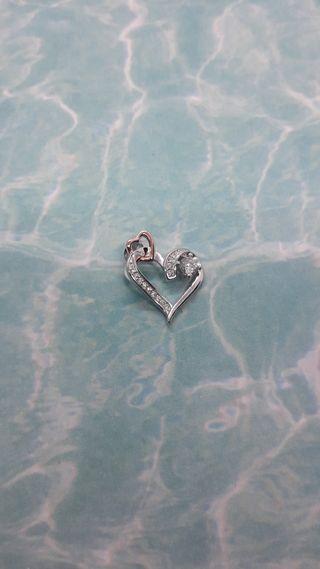 Infinity Love Heart Pendant 925 S.S
