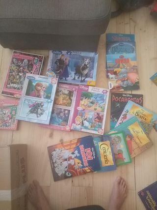 Puzzles y libros de Disney
