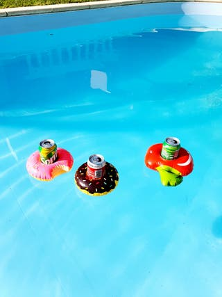 Lote flotadores posa vasos