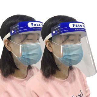 2 uds de careta protección facial completa