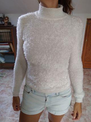 Jersey blanco de manga larga