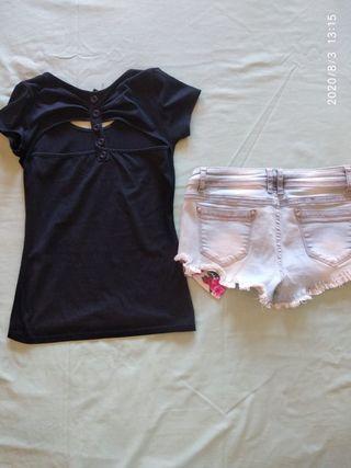Conjunto camiseta más pantalón corto