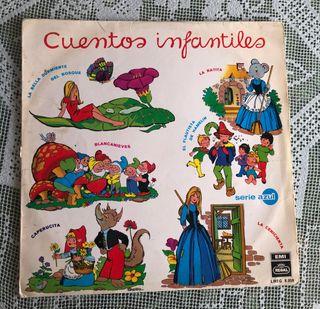 Vinilos cuentos y canciones infantiles.