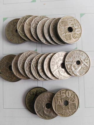 1947. Monedas 50 céntimos