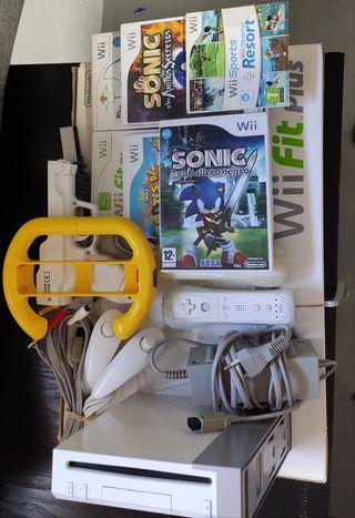 Wii+ Wii fit Plus+ juegos+ accesorios