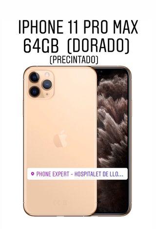 iPhone 11 Pro Max 64Gb Dorado (Precintado)