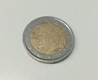 Moneda conmemorativa Dante Italia 2002