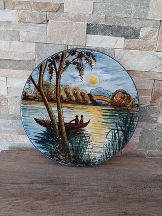 plato pintado 38 cm
